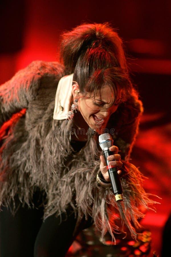 Jennifer Lopez se realiza en concierto fotografía de archivo libre de regalías