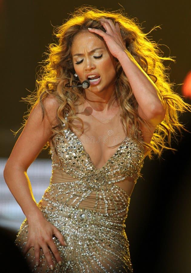 Jennifer Lopez se realiza en concierto imagen de archivo