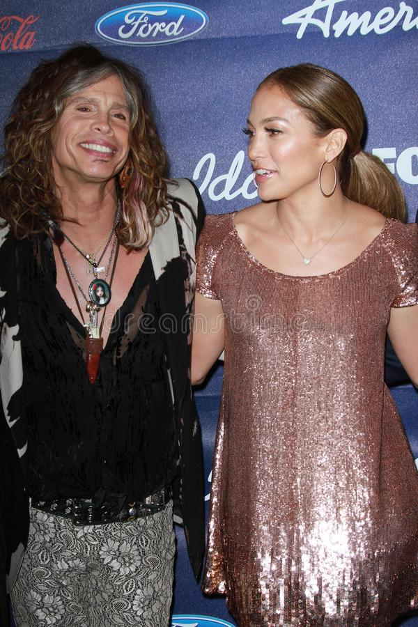 Jennifer Lopez, Steven Tyler stock photos