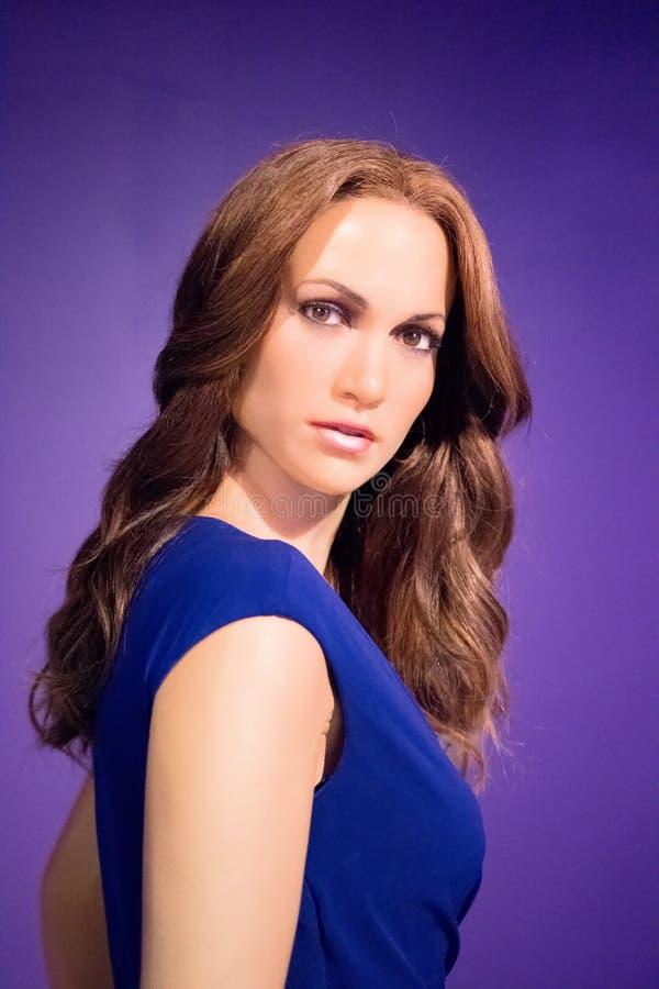 Jennifer Lopez Wax Figure stock photography