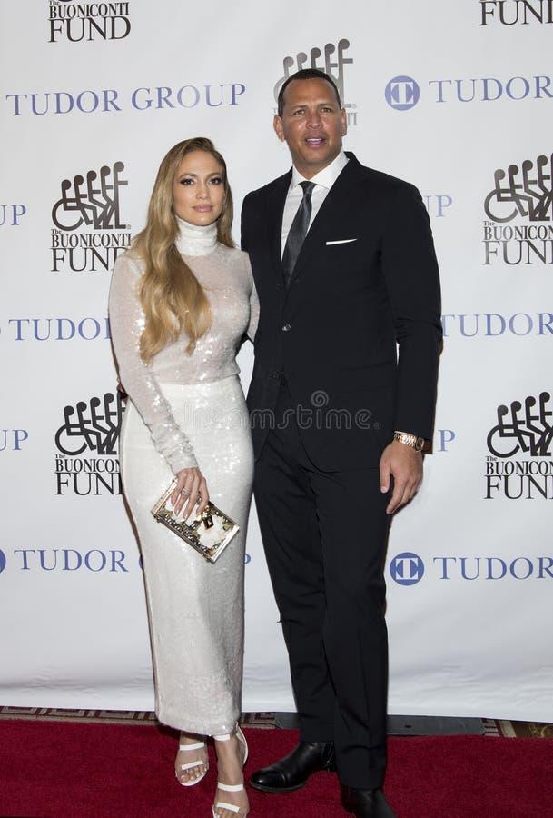 Jennifer Lopez y Alex Rodriguez imágenes de archivo libres de regalías
