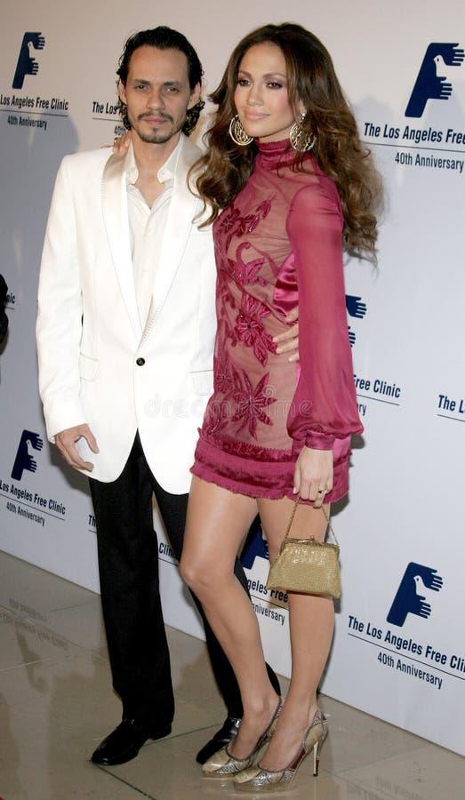 Jennifer Lopez y Marc Anthony fotos de archivo libres de regalías