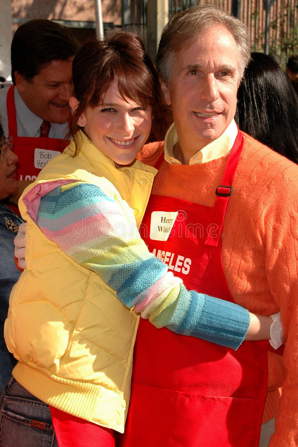 Jennifer Love-Hewitt, Henry Winkler royalty-vrije stock foto's