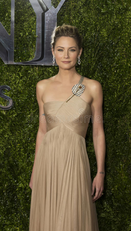 Jennifer Nettles Arrives at 2015 Tony Awards. Jennifer Nettles, one of country music's leading ladies, as lead singer of Sugarland, looks resplendent in a beige royalty free stock photos