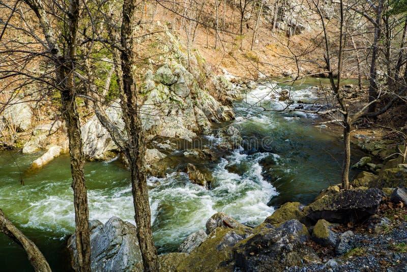 A Wild Mountain Trout Stream. Jennings Creek is a popular wild mountain trout stream located in the Blue Ridge Mountains, Botetourt County, Virginia, USA royalty free stock photos