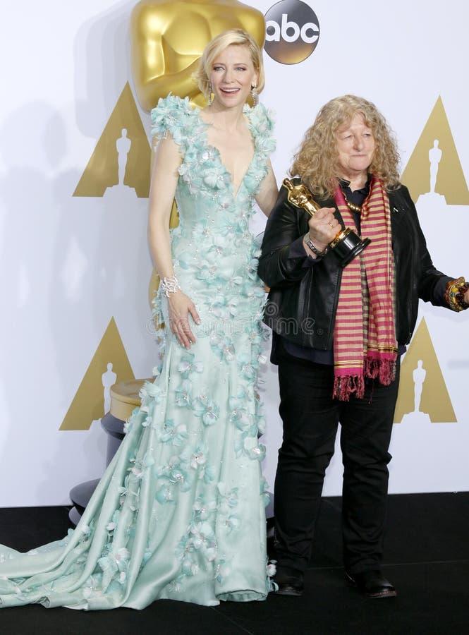 Jenny Beavan en Cate Blanchett royalty-vrije stock afbeelding