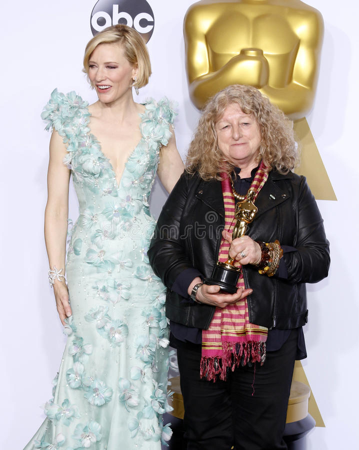 Jenny Beavan en Cate Blanchett stock fotografie