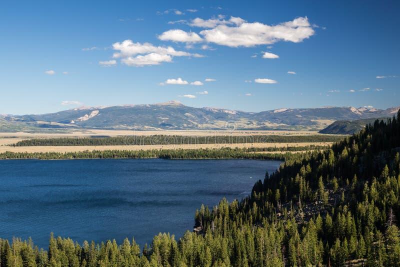 Jenny Lake bij het Nationale Park van Grand Teton, Wyoming, de V.S. royalty-vrije stock afbeeldingen
