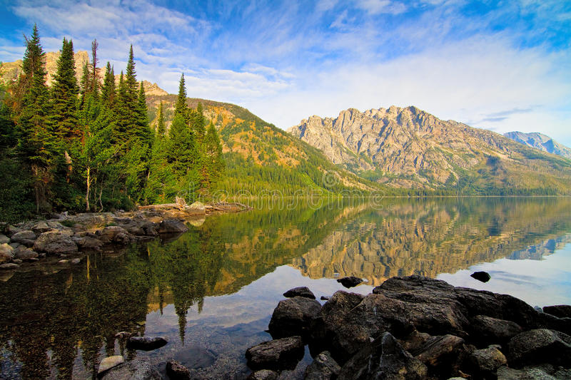 Jenny Lake in Grand Teton National Park, Wyoming royalty free stock photo