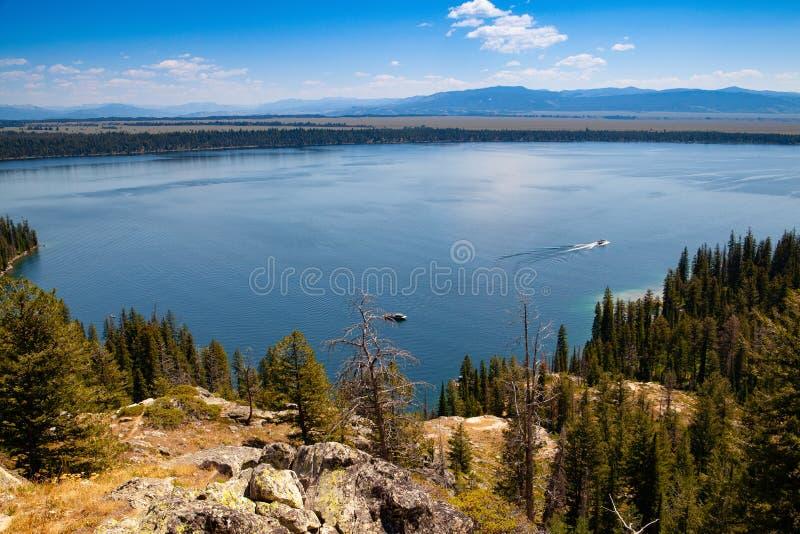 Jenny Lake, rand Teton National Park, Wyoming, USA stock photography
