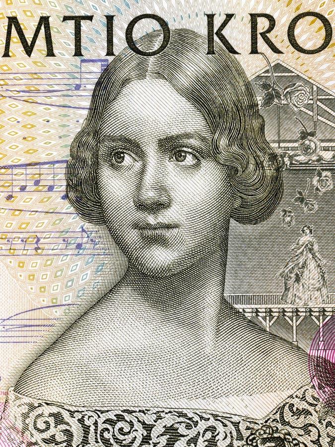 Jenny Lind-Porträt stockbild