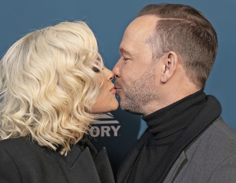 Jenny McCarthy et Donnie Wahlberg à la Variety 3rd Annual Salute to Service images stock