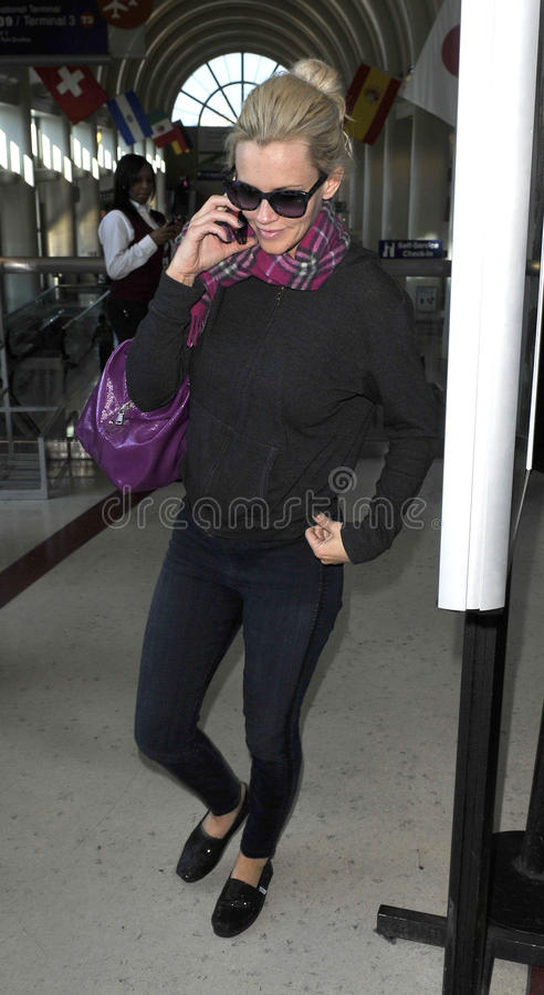 jenny slappa macarthy USA för aktrisflygplatsca royaltyfri fotografi