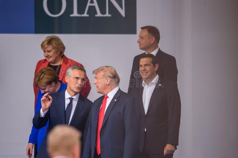 Jens Stoltenberg et Donald Trump images stock