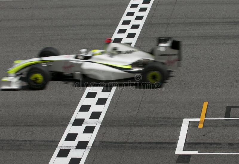 Jenson Button 2009 no Malaysian F1 Prix grande foto de stock royalty free