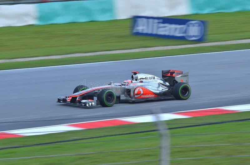 Jenson Button McLaren-Mercedes Editorial Stock Photo