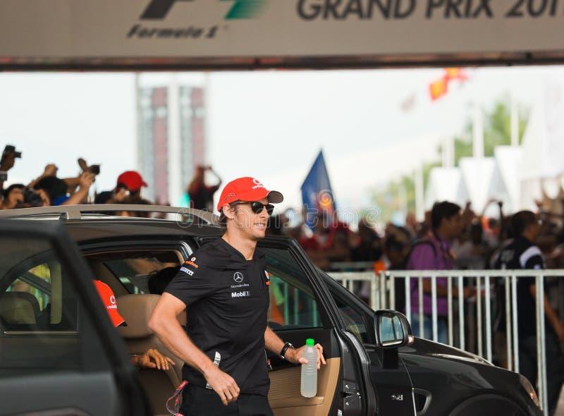 Jenson Button, team McLaren Mercedes stock images