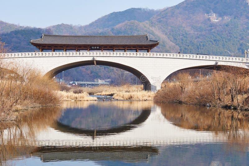 Jeonju, Namcheongyo most zdjęcie stock