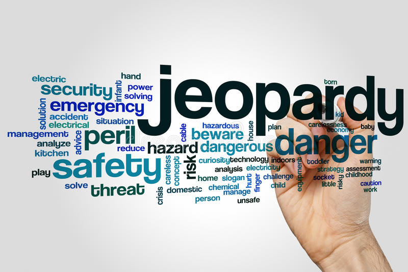 Jeopardy word cloud stock photos