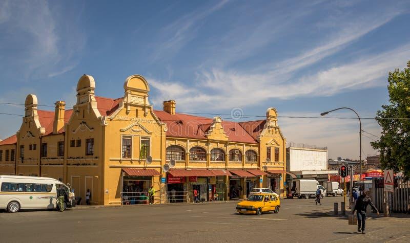 Jeppestown histórico nos arredores de Maboneng em Joanesburgo fotografia de stock