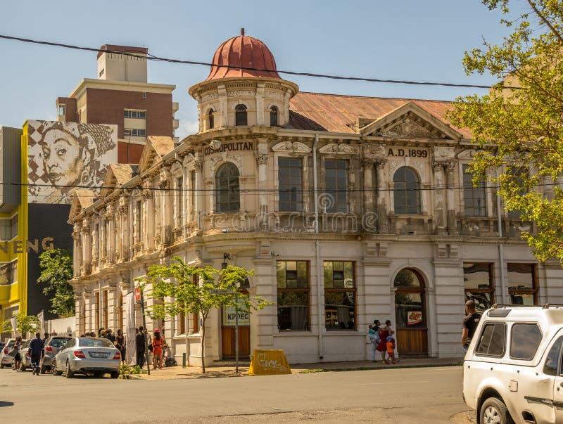 Jeppestown histórico nos arredores de Maboneng em Joanesburgo imagens de stock royalty free