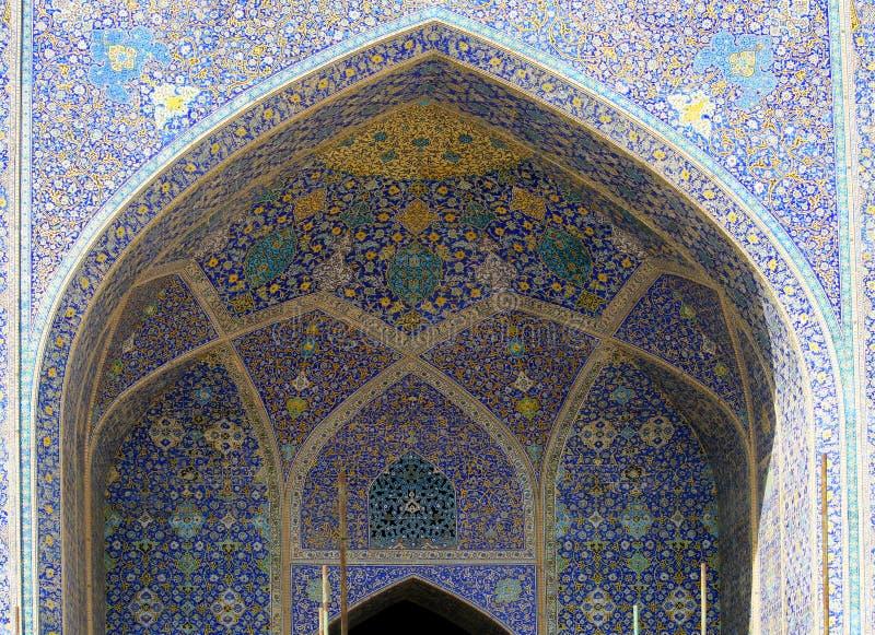 Jeque Loft Allah Mosque, Isfahán, Irán imagen de archivo