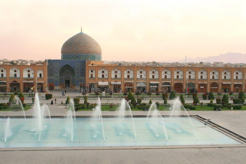 Jeque Lotf Allah Mosque, Isfahán, Irán foto de archivo