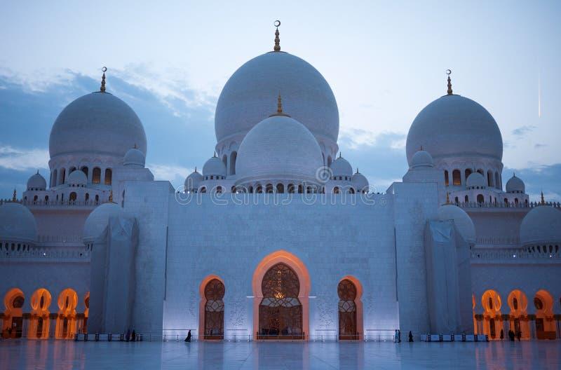 Jeque Zayed Grand Mosque fotos de archivo libres de regalías