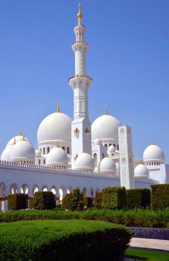 Jeque Zayed Grand Mosque, Abu Dhabi, UAE fotografía de archivo libre de regalías