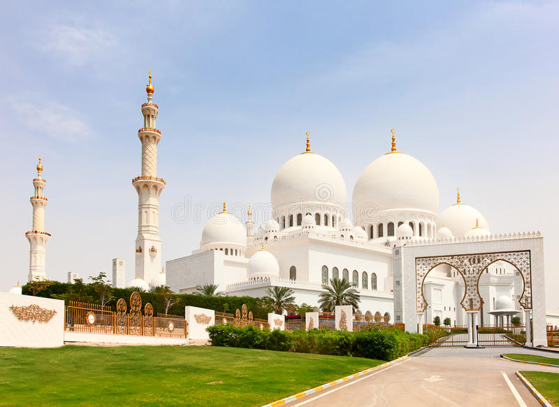Jeque Zayed Mosque imagen de archivo libre de regalías