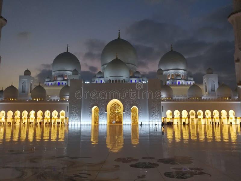 Jeque Zayed Mosque de Abu Dhabi foto de archivo libre de regalías