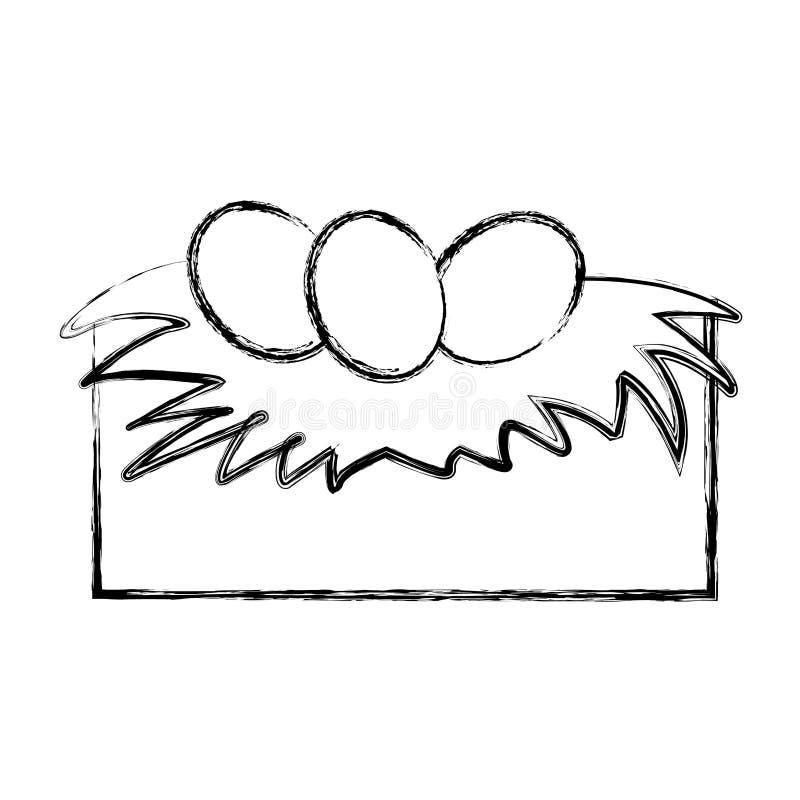 Jerarquía blanda con los huevos stock de ilustración