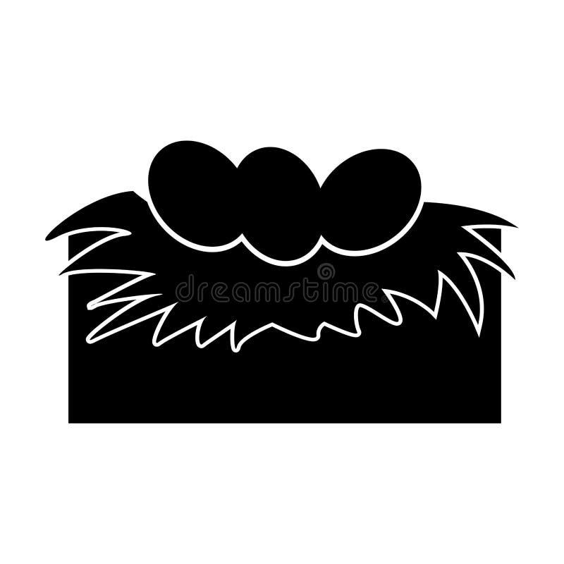 Jerarquía blanda con los huevos ilustración del vector