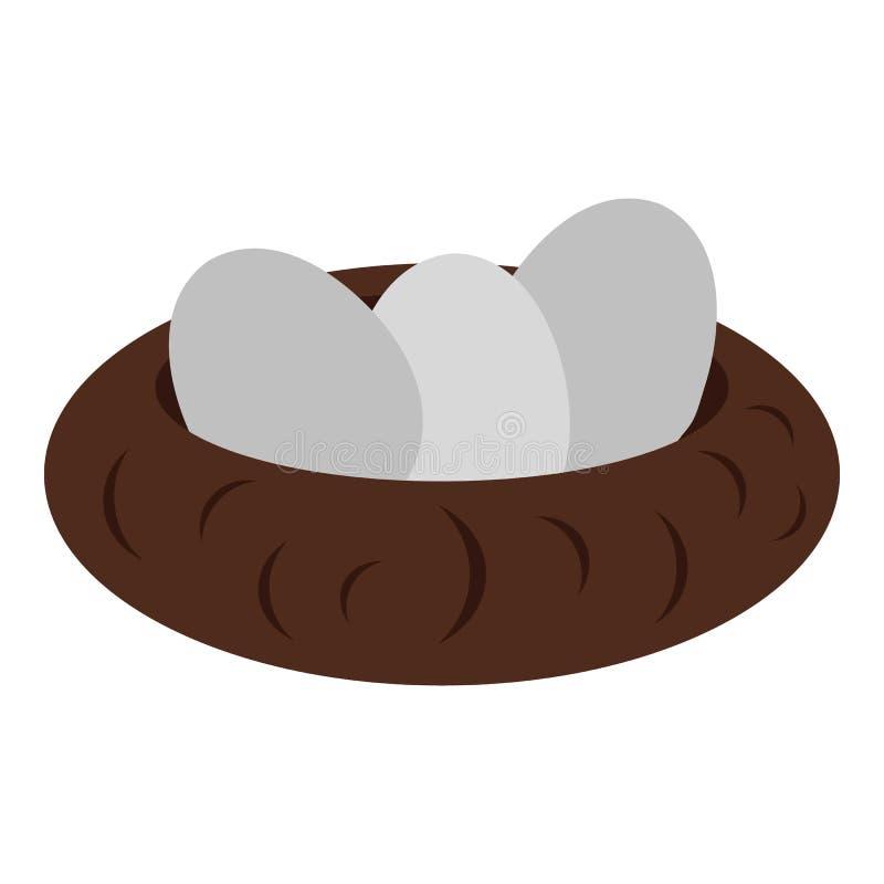 Jerarquía con el icono de los huevos, estilo plano libre illustration