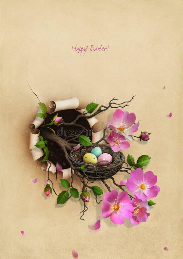 Jerarquía con los huevos de Pascua ilustración del vector