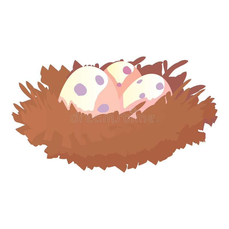 Jerarquía con los huevos icono, estilo de la historieta stock de ilustración