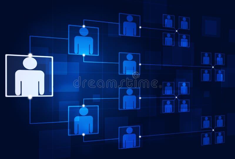 Jerarquía corporativa ilustración del vector