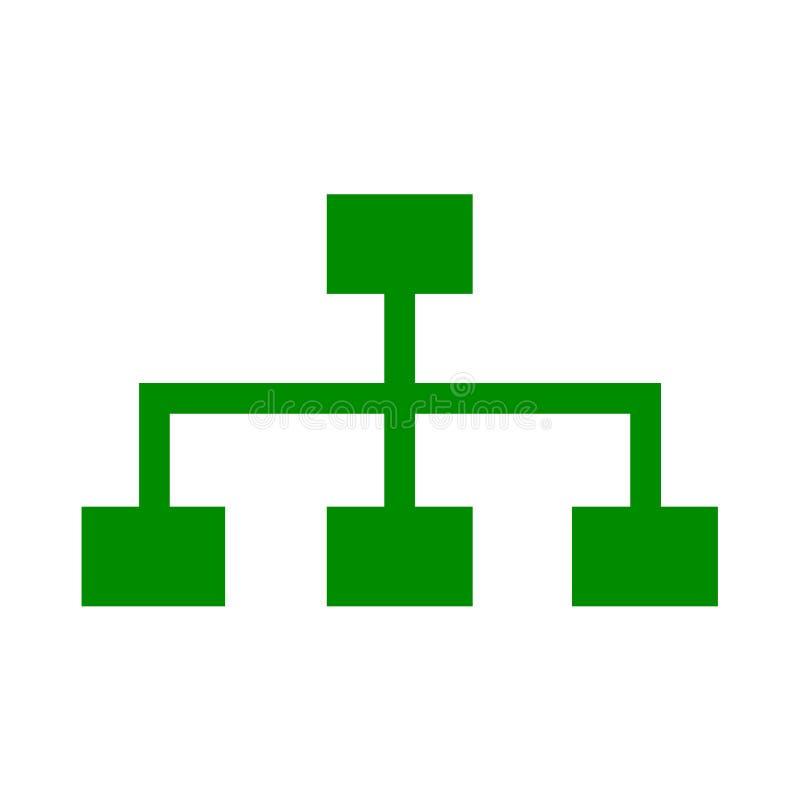 Jerarquía de la compañía de la organización - para la acción libre illustration