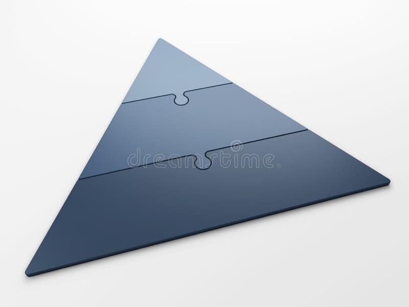 Jerarquía de la pirámide stock de ilustración