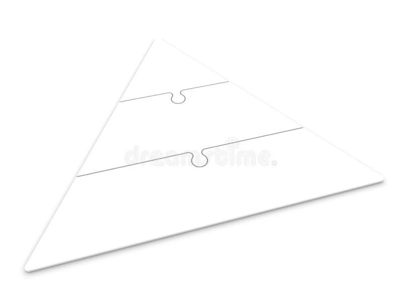 Jerarquía de la pirámide imagen de archivo libre de regalías