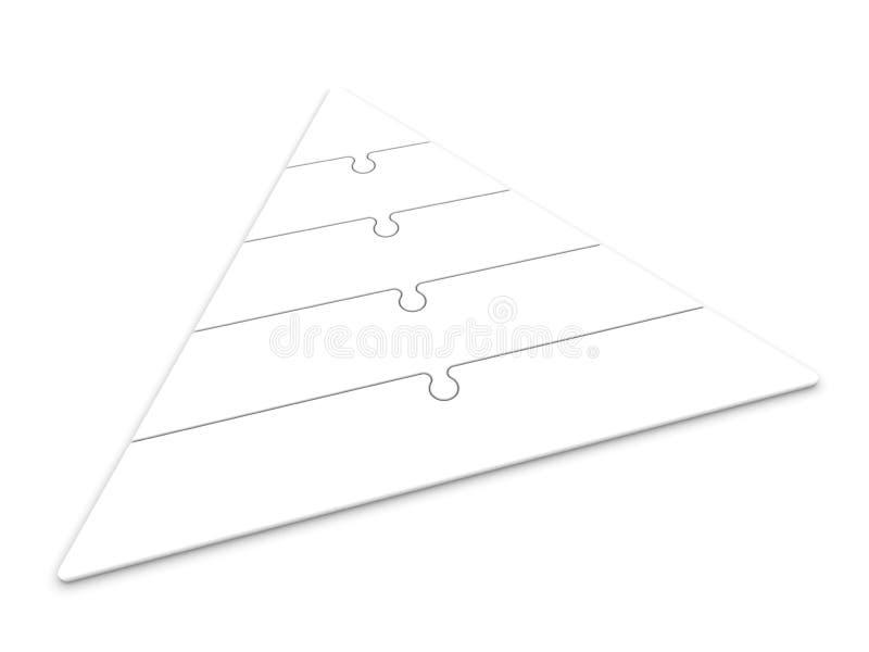 Jerarquía de la pirámide ilustración del vector