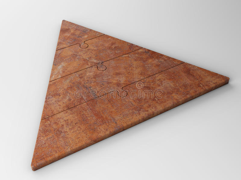 Jerarquía de la pirámide foto de archivo