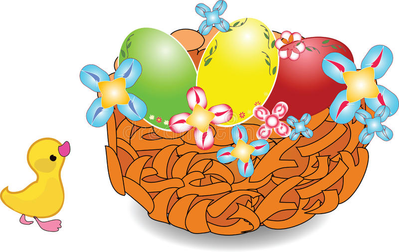 Jerarquía de Pascua con los huevos del día de fiesta ilustración del vector