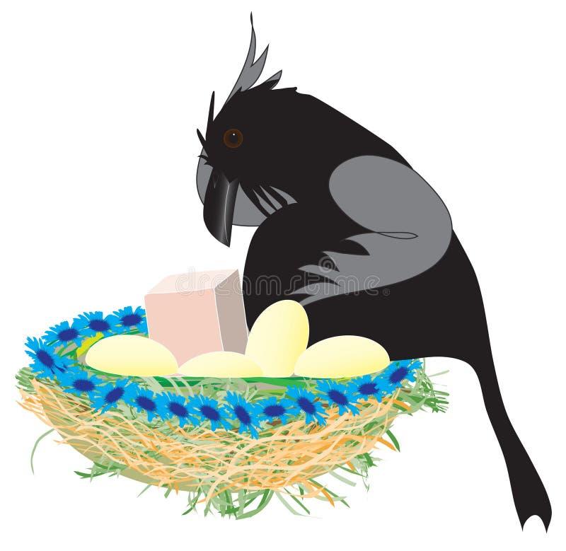 Jerarquía del cuervo ilustración del vector