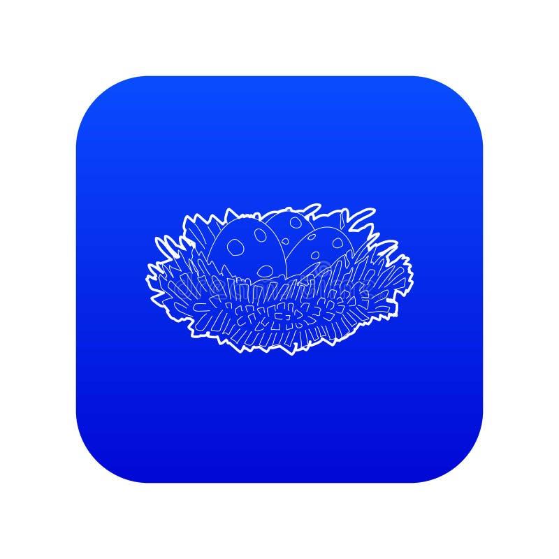 Jerarquía del pájaro con vector azul del icono de los huevos libre illustration
