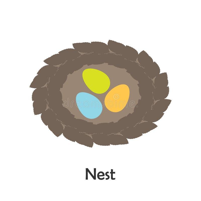 Jerarquía en estilo de la historieta, tarjeta de la primavera para el niño, actividad preescolar para los niños, ejemplo del vect stock de ilustración