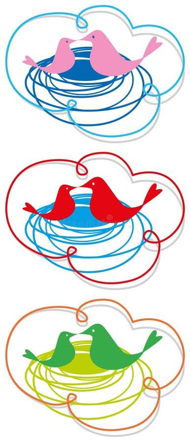 Jerarquía-en-nube stock de ilustración