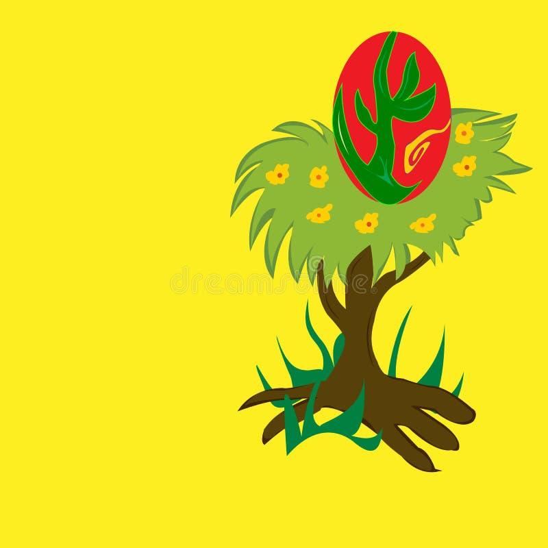 Jerarquía en un árbol ilustración del vector
