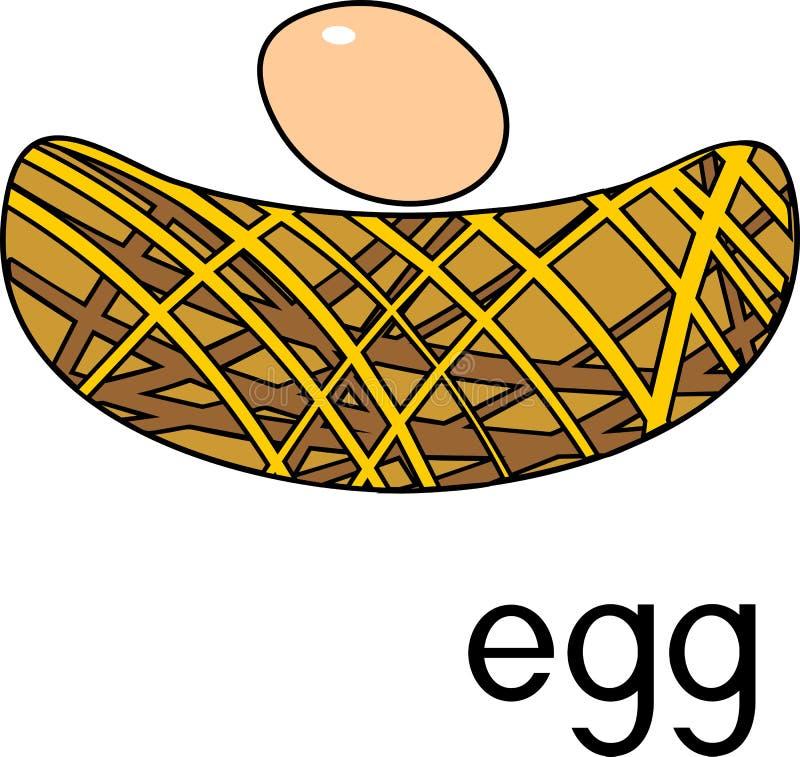 Jerarquía estilizada con el huevo con título libre illustration