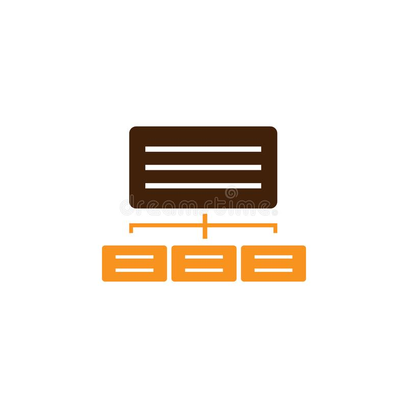 Jerarquía, icono del mapa Elemento del icono de la optimización de la web para los apps móviles del concepto y de la web La jerar ilustración del vector